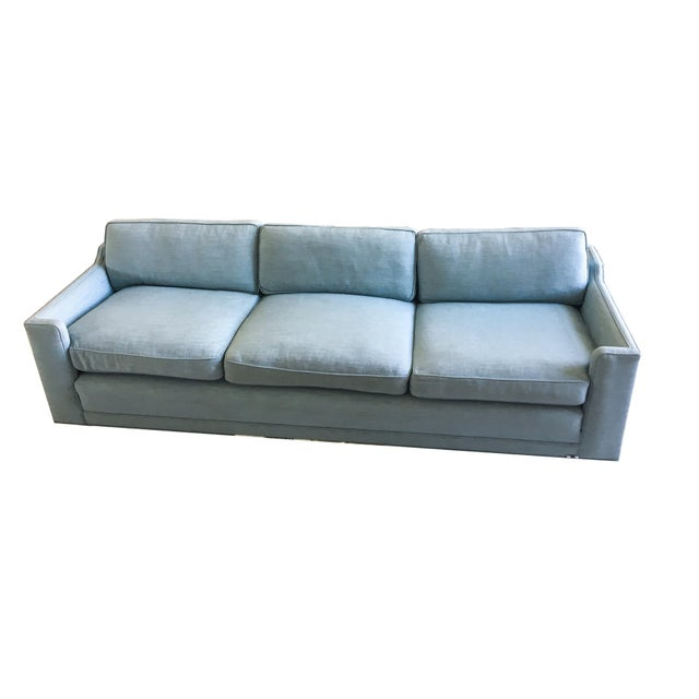 Vintage Mid-Century Erwin Lambeth Linen Sofa For Sale In New York - Image 6 of 6