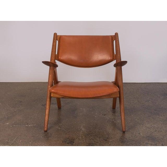 Mid-Century Modern Hans J. Wegner Ch-28 Armchair for Carl Hansen & Son For Sale - Image 3 of 12