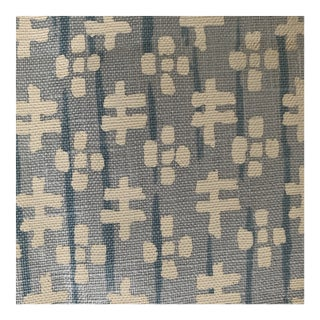 Pale Blue Sister Parish Linen Fabric- 2 Yards For Sale