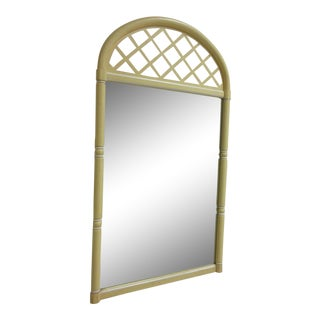 Vintage Carolina Faux Bamboo Hanging Wall Dresser Mirror