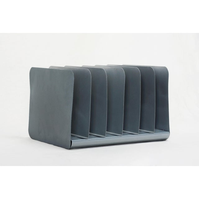 Retro Office Mail Organizer, Refinished in Metallic Silver For Sale In Los Angeles - Image 6 of 6
