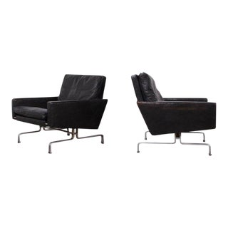 Pair of Poul Kjaerholm Pk-31/1 Lounge Chairs for E. Kold Christensen For Sale