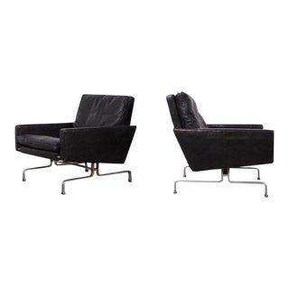 Pair of Poul Kjaerholm Pk-31/1 Lounge Chairs for E. Kold Christensen