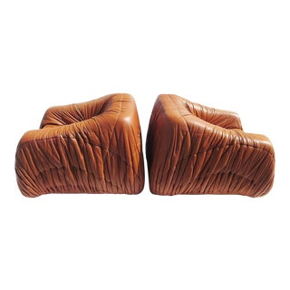 "Leather ""Piumino"" Club Chairs by De Pas, d'Urbino and Lomazzi for Dell'Oca, 1970 For Sale"