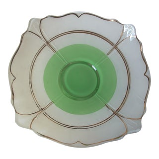 Art Deco Indiana Glass Serving Bowl For Sale