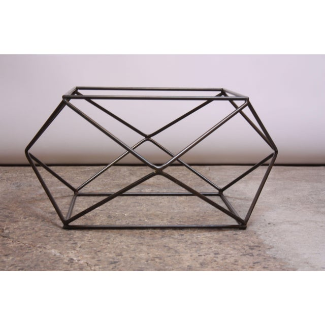 1970s Milo Baughman for Directional Geometric Bronze Coffee Table For Sale - Image 5 of 13