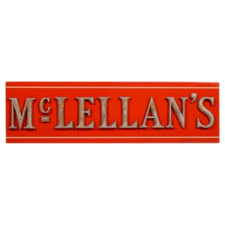 Antique McLellan's Five and Dime Store Sign For Sale