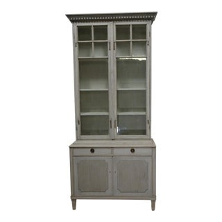 Swedish Glass Top Hutch For Sale