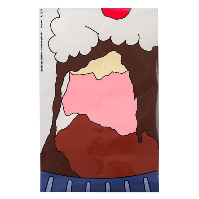 """""""Herman Miller Summer Picnic"""" Ice Cream Sundae Poster For Sale"""