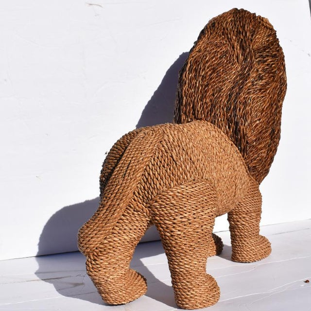Mario Torres Mario Torres Lopez Style Wicker Raffia Lion Animal For Sale - Image 4 of 11