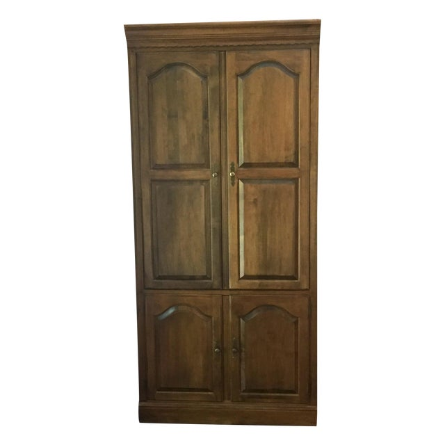 Vintage Ethan Allen Entertainment Cabinet For Sale
