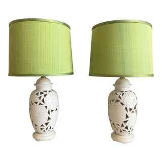 1970s Floral Cutout Lamps & Shades For Sale