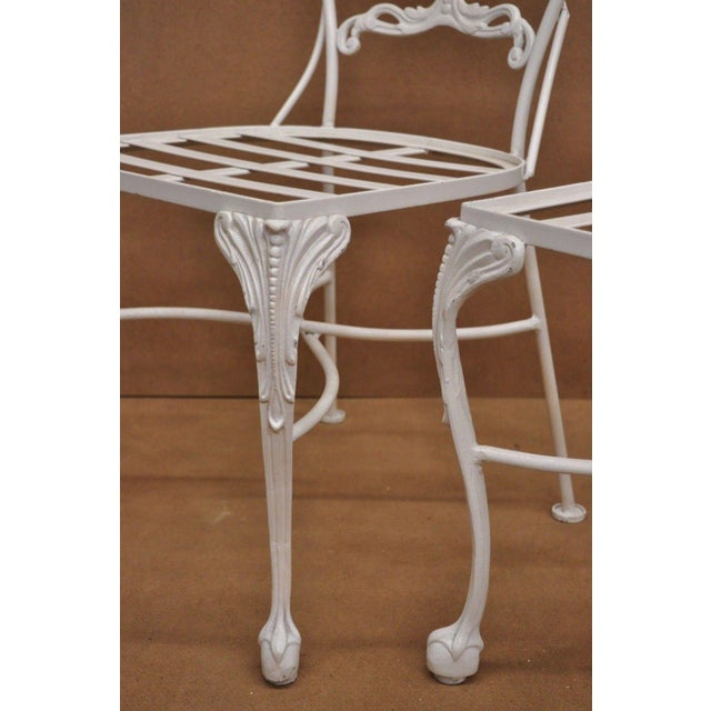 Metal 20th Century Victorian Cast Aluminum Patio Dining Set - 7 Pieces For Sale - Image 7 of 13