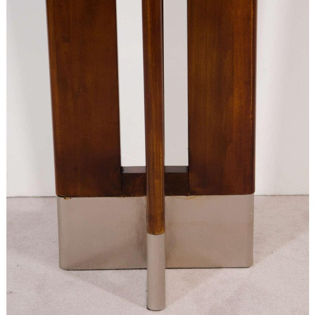 Mid-Century Modern DANISH MODERN PAIR OF TALL WOODEN FLOOR LAMPS For Sale - Image 3 of 3