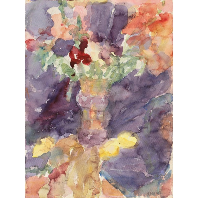 'Irises' by Janet Ament, California Post-Impressionist Woman Artist, Los Angeles County Museum of Art, Paris For Sale - Image 9 of 9