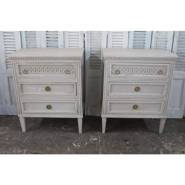 20th Century Swedish Gustavian Style Nightstands - A Pair For Sale - Image 12 of 12