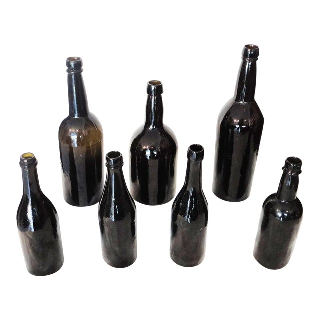 Fantastic Early 19thc Collection of Olive Green Bitters Bottles - Image 1 of 9