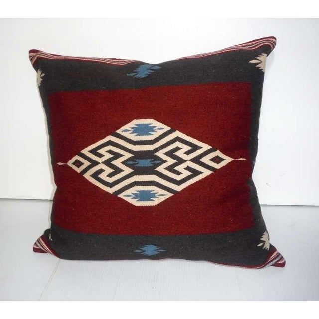 Navajo Large Eye Dazzler Indian Weaving Pillow For Sale - Image 3 of 4