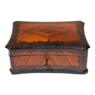 Antique Rosewood Inlaid Box For Sale