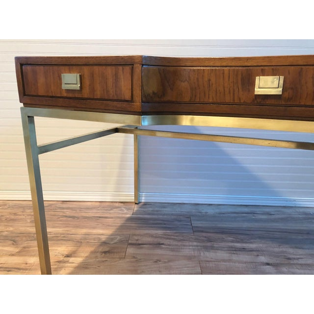 Drexel Heritage Drexel Consensus Campaign Writing Desk For Sale - Image 4 of 11