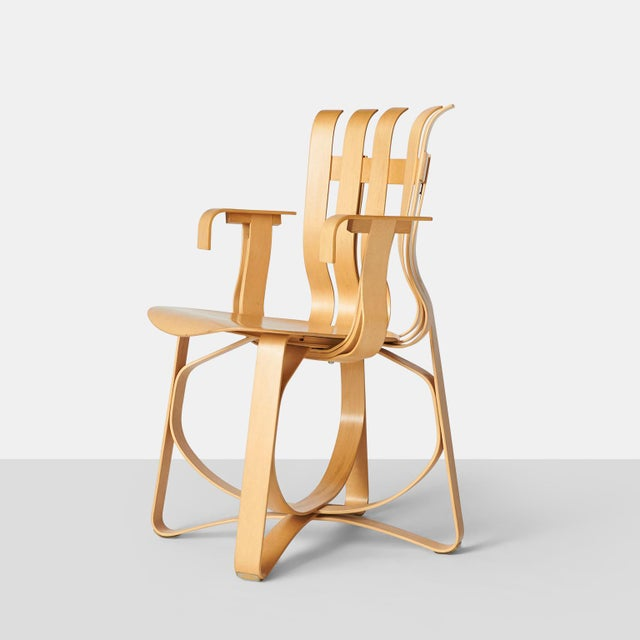 Hat Trick Armchair by Frank Gehry for Knoll A beautiful bent maple chair from the Gehry Collection for Knoll. The chair is...