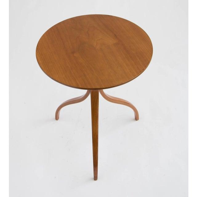 Spider Leg Walnut Side Table - Image 6 of 8