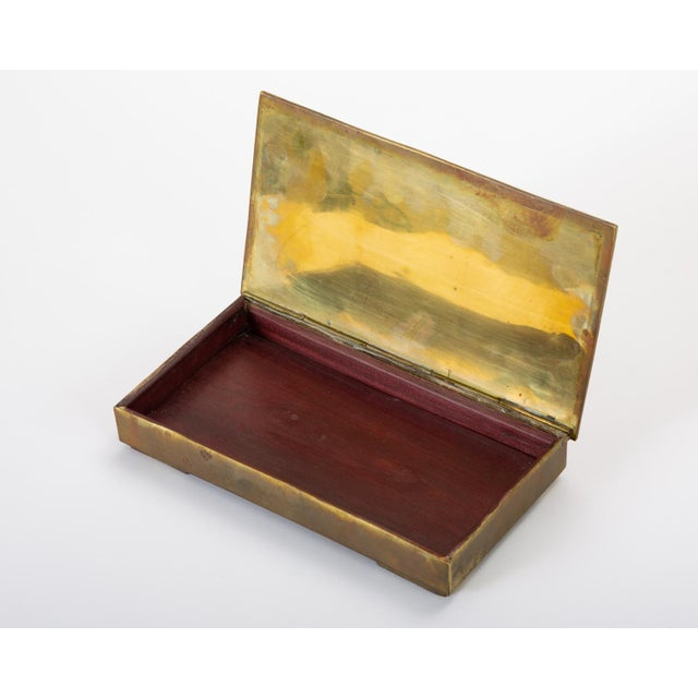Mexican Brass Box With Resin Inlay Fish For Sale - Image 10 of 12