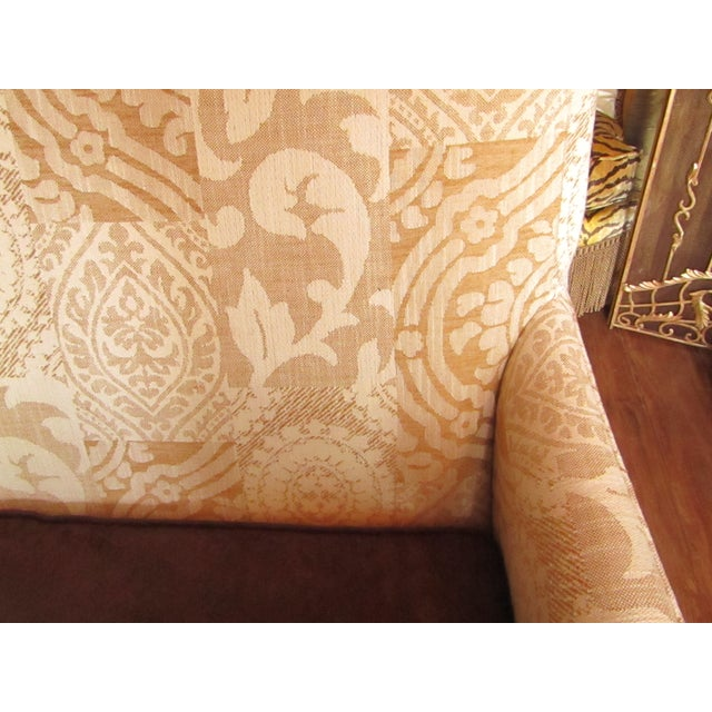 Contemporary Southwood Damask and Chenille Leopard Print Settee with Pillows - 3 Pieces For Sale - Image 9 of 12