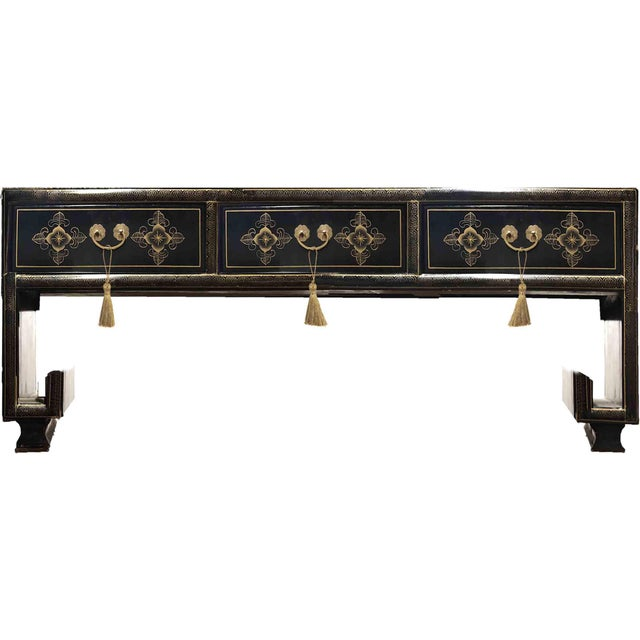 Vintage Chinoiserie Ming Lacquered Kang Coffee Table For Sale - Image 9 of 11