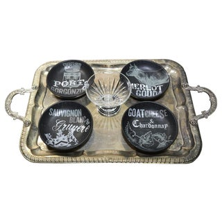 Farmhouse Cheese Serving Tray & Bowls - Set of 6 For Sale