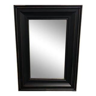 Horizintal Black Distressed Framed Mirror