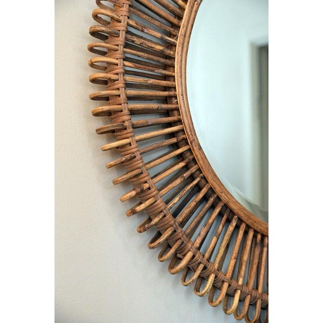 Modern The 'Oculus' Round Rattan Mirror For Sale - Image 3 of 4