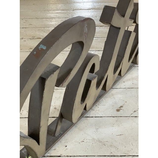 French Antique 1930s Metal Patisserie Sign For Sale - Image 3 of 5
