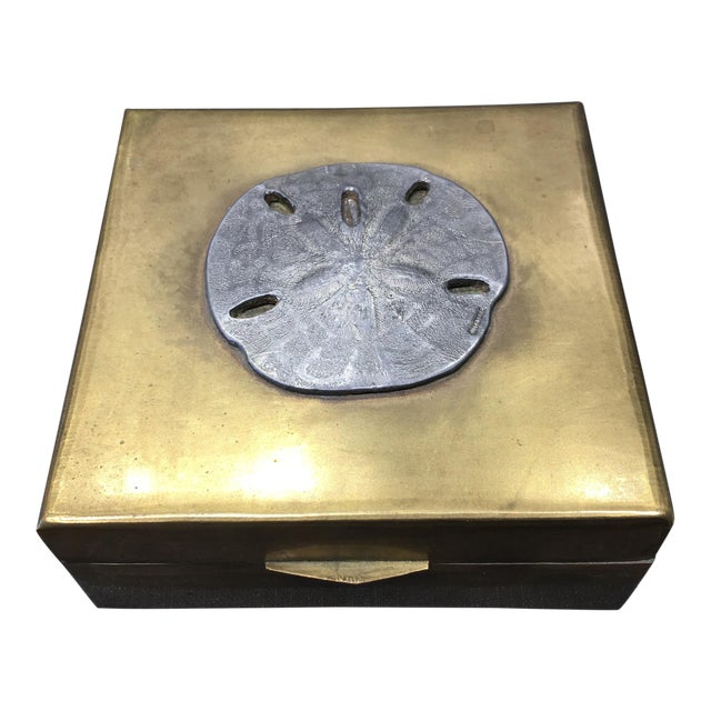 Vintage Brass Sand Dollar Box - Image 1 of 11
