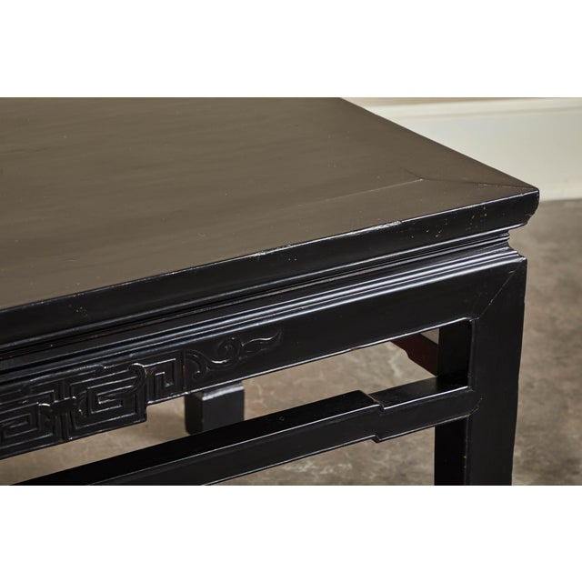 Ceramic 18th C. Low Black Lacquer Kang Table For Sale - Image 7 of 8