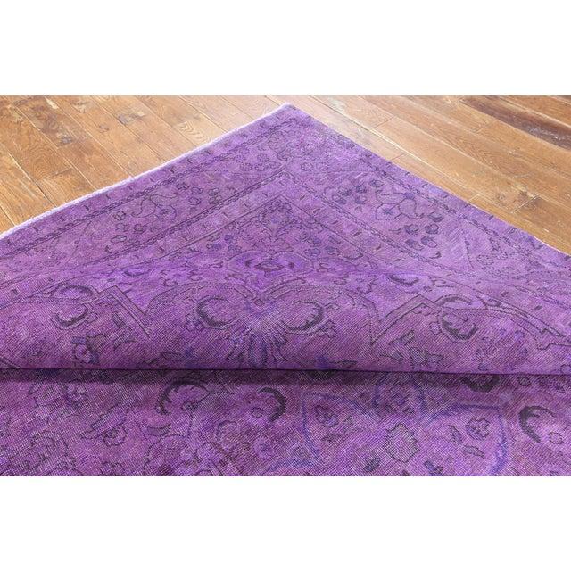 "Purple Overdyed Rug - 8'1 x 11'5"" - Image 5 of 6"