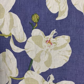 "Raoul Textiles ""Celeste"" Hand Printed Linen Fabric- Yardage For Sale"