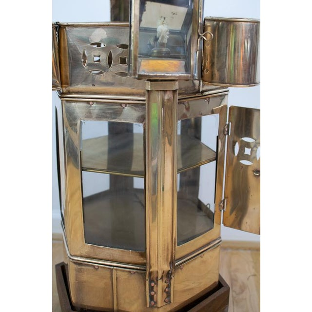 Gold Mid-Century Brass Asian Noodle Cart For Sale - Image 8 of 12