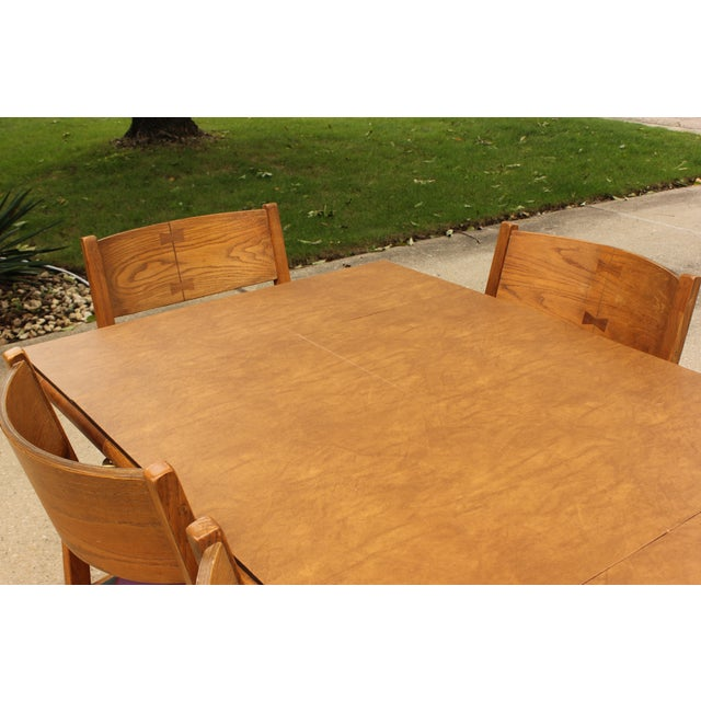 Conant Ball Oak Dining Table and 8 Chairs For Sale - Image 7 of 11