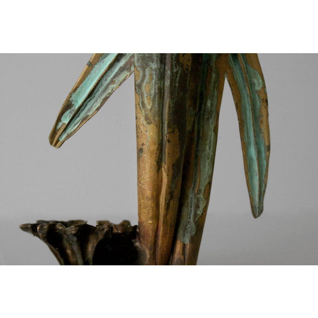 "Contemporary Robert Lee Morris ""Green Leaves Candle Holder"", 1990s For Sale - Image 3 of 4"