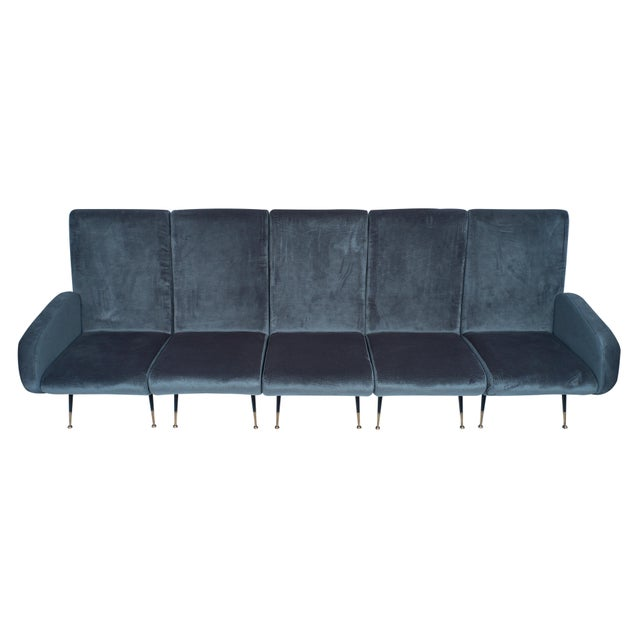 1950s 1950s Italian Mid-Century Sectional Sofa - Set of 5 For Sale - Image 5 of 12