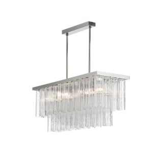 "Rectangular Contemporary Murano Glass ""Tronchi"" Chandelier For Sale"