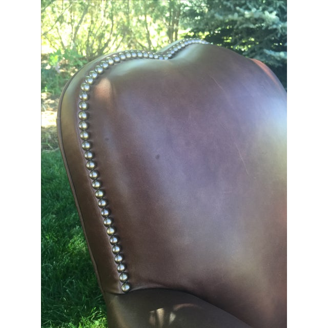 Cisco Brothers Distressed Leather Chairs - A Pair For Sale - Image 4 of 11