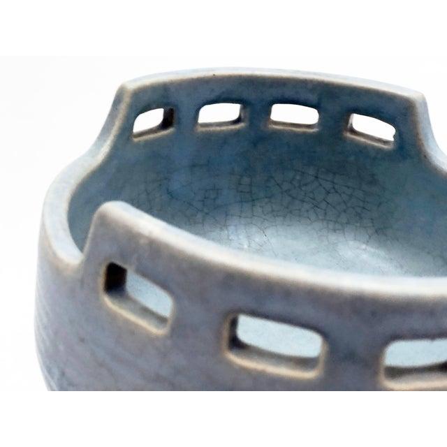 Ceramic Mid-Century Azure Ikebana Vase For Sale - Image 7 of 10
