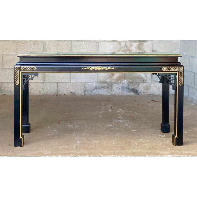 Hollywood Regency Chinoiserie Fretwork Console Table For Sale - Image 10 of 10