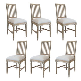 Six Swedish Dining Chairs For Sale