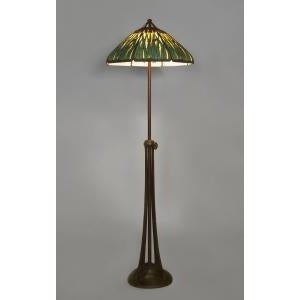American Mid 20th Century American Mission Bronze Floor Lamp For Sale - Image 3 of 11