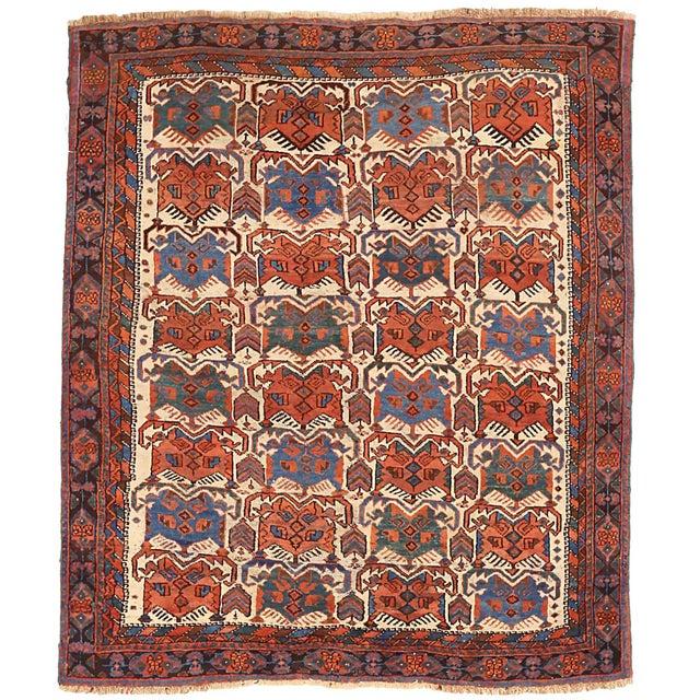1920s Antique Persian Area Rug Sirjan Design For Sale - Image 5 of 5