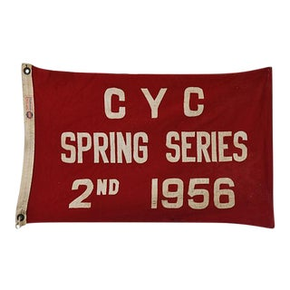 1956 Historic Cleveland Yacht Club Trophy Winning Flag For Sale