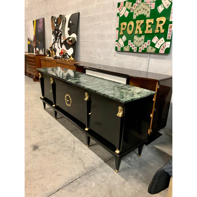 1910s Vintage French Empire Sideboards or Credenzas or Buffet For Sale In Miami - Image 6 of 13